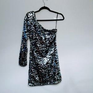 ASOS Women's One Sleeve Sequins Dress Size 6
